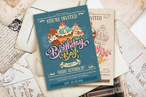 Birthday Bash Invitation Template