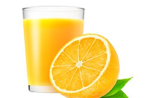Isolated orange drink