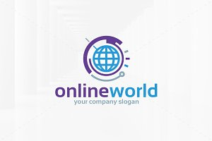 Online World logo Template