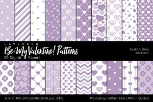 Be My Valentine Digital Papers