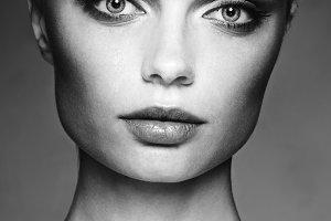 studio portrait of a beautiful girl