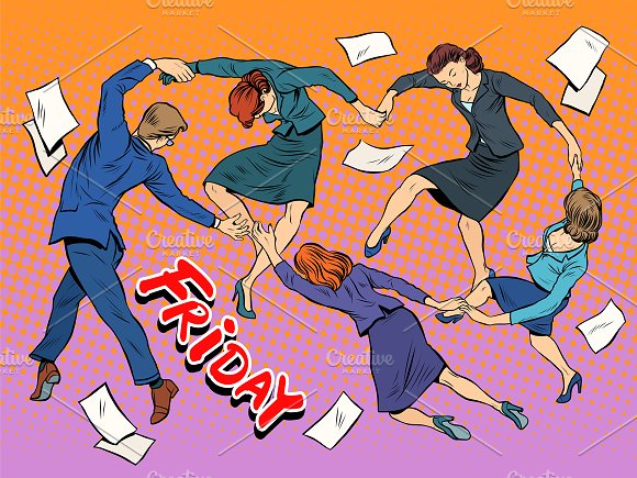 Dance in the office Friday