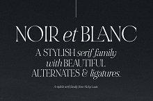 NOIR et BLANC Stylish Serif
