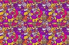 Funny seamless pattern.