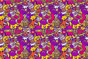 Funny seamless pattern.