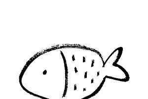 Ink fish sketch