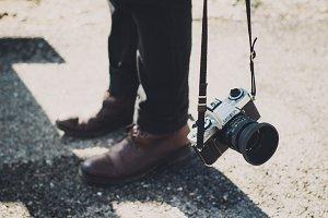 Hipster legs + Old Minolta