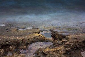 Coast background landscape