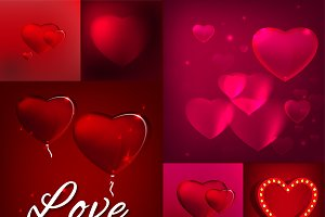 Valentine Day Vector Posters