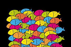 Color group of fish pattern