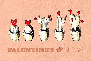 Valentines Cactuses