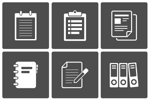Documents and office icons