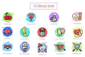 14 February icons