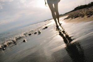 seaside golden sand portrait