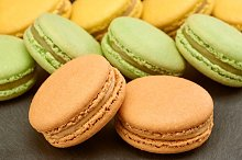 Macarons, french, background. Food