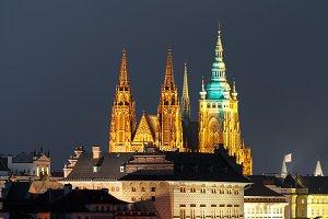 Prague Castle ay night