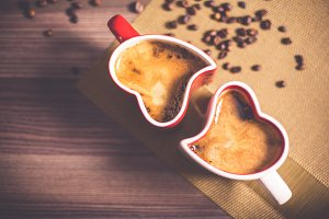 Love Heart Coffee Mugs