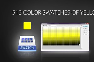 512 color swatches of yellow