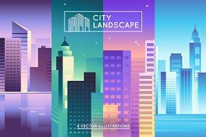 City Landscape - 4 vectors