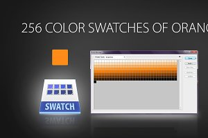 256 color swatches of orange