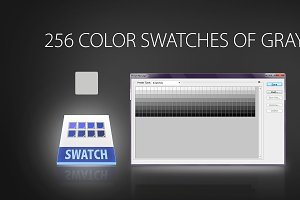 256 color swatches of gray