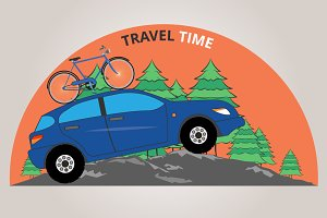 Travel Time. Vector illustration