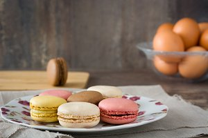 Macarons in a plate