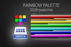 Rainbow color swatches (7-IN-ONE)