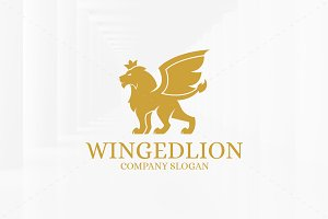 Winged Lion Logo Template