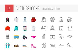 16 Clothes icons and some variations