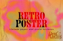 Retro Poster Folded Paper & Grains by  in Add-Ons