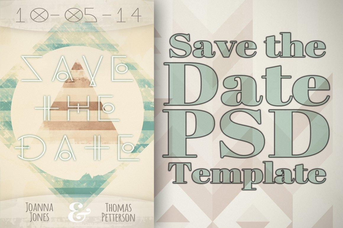 Unique Save the Date Template ~ Invitation Templates ...