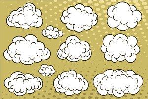 Comic book clouds