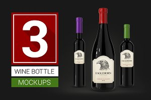 Wine Bottle Mockups