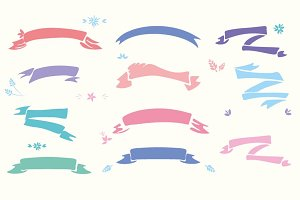 Hand Drawn Ribbon Clip Art