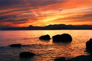 Beatifull sea sunset