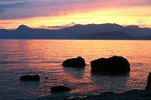 Beatifull sunset in Crimea