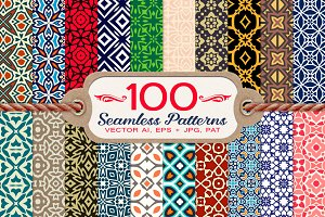 100 Decorative Seamless Patterns