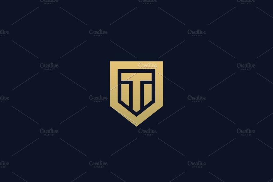 7619a6d193647e Abstract letter T shield logo ~ Logo Templates ~ Creative Market