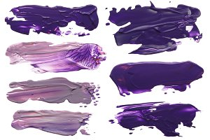 acrylic brush strokes blots