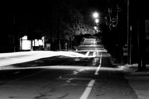 Light Trails on Locust Street