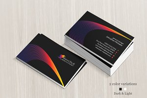 Dark & Light Colorful Business Card