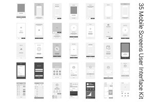 35 Mobile Screens User Interface Kit