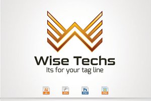 Wise Techs,W Letter Logo