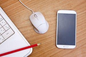 smartphone Computer on the desktop