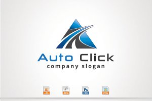 Auto Click,A Letter Logo