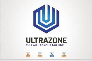 Ultra Zone,U Letter Logo