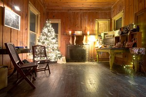 Old House at Christmas