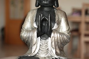 Figure of a seated Buddha