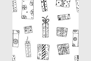 Seamless texture gift boxes